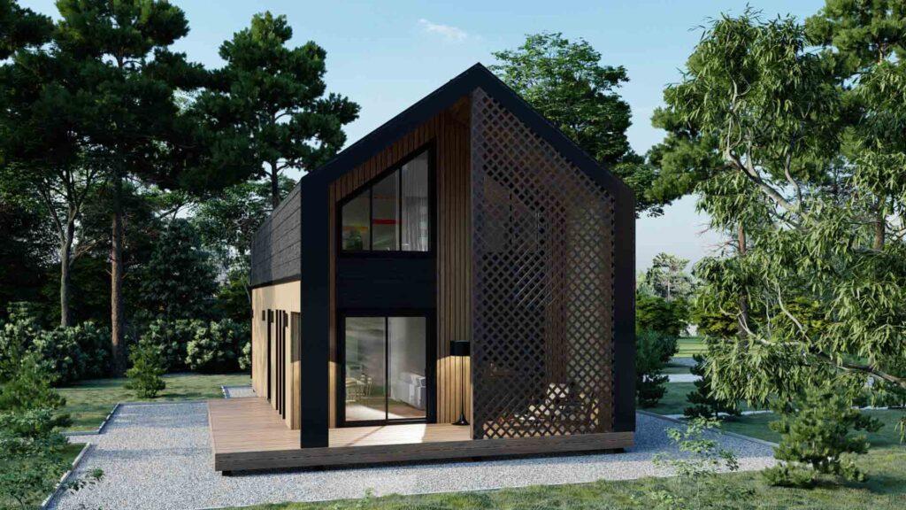 Сучасні, модерн Проекти будинків з соломи в Україні від soloma.house